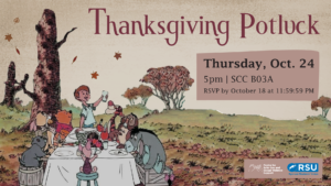 """""""Thanks""""- giving Volunteer Potluck dinner @ Center for Safer Sex and Sexual Violence Support"""